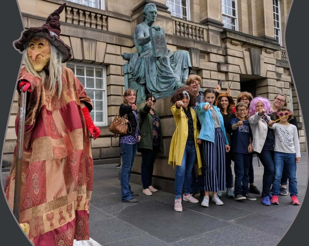 A Harry Potter tour & witch on Edinburgh's Royal Mile
