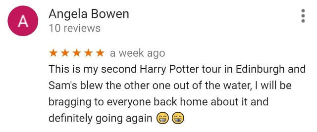 Potter tour vs Potter Trail Google review